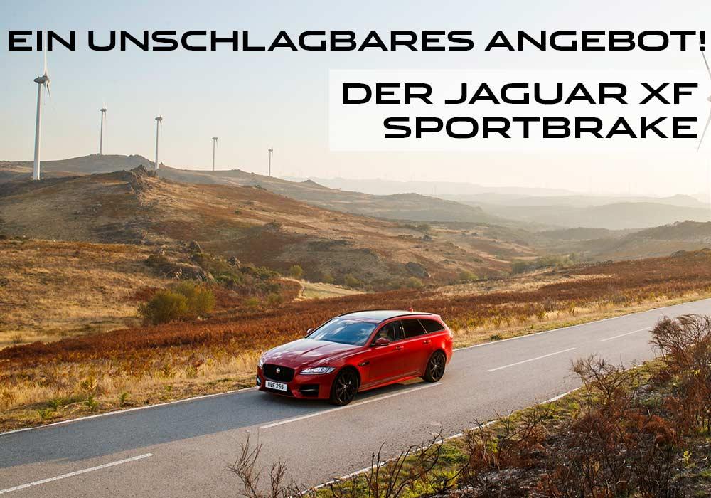 Jaguar XF Sportbrake in rot