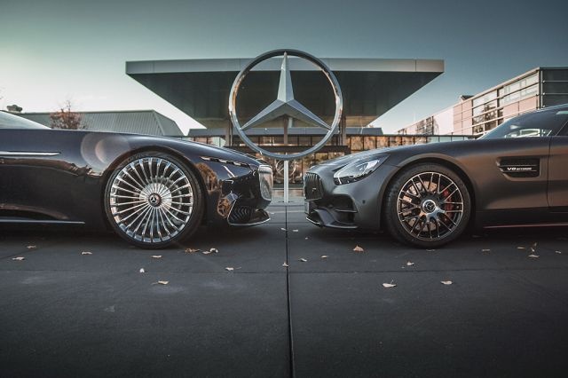 Foto Zwei der bei den Fans auf Instagram beliebtesten Fahrzeuge: Der Vision Mercedes-Maybach 6 Cabriolet und dem Mercedes-AMG GT Edition 501.