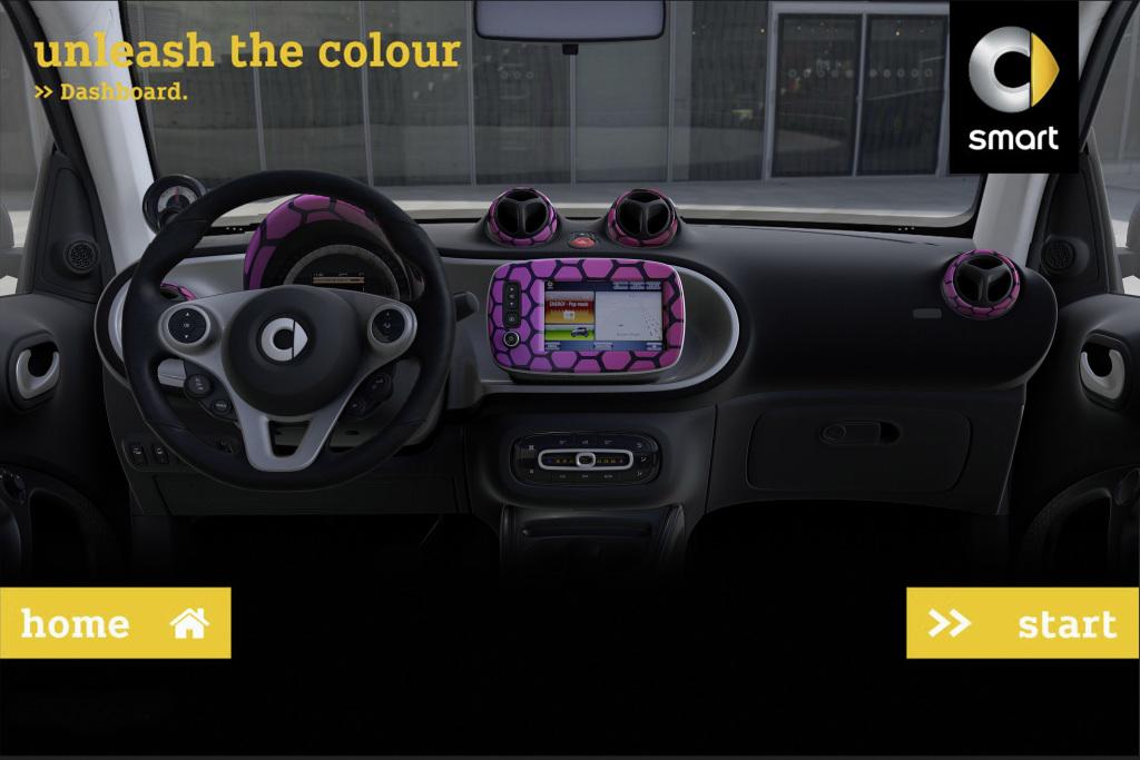 Foto Mit unleash the colour gibt smart einen Ausblick auf weitere Formen der Individualisierung.