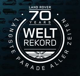 70 Jahre land rover Weltrekord