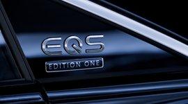 Schriftzug des Mercedes-Benz EQS
