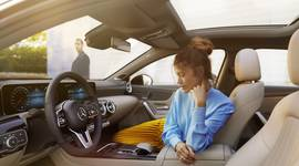 Der Fahrerbereich der Mercedes-Benz A-Klasse Limousine