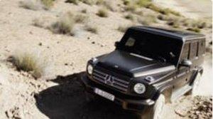 Mercedes Benz G-Klasse Fahraufnahmen im Gelände